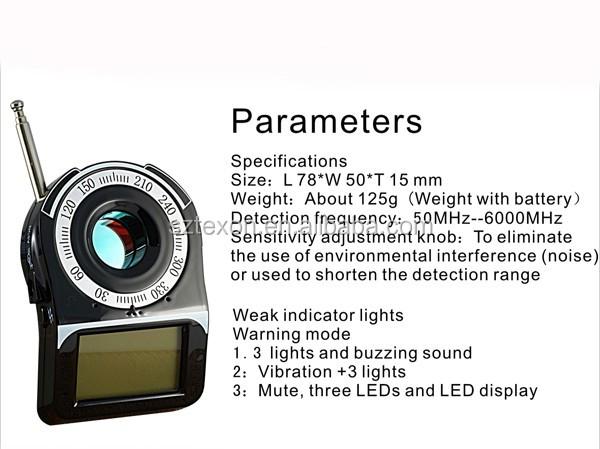 Cc309 Rf Signal Detector Bug Hidden Camera Bug Detector Spy Camera Detector  Cc309 - Buy Rf Signal Detector,Spy Camera Detector,Infrared Camera