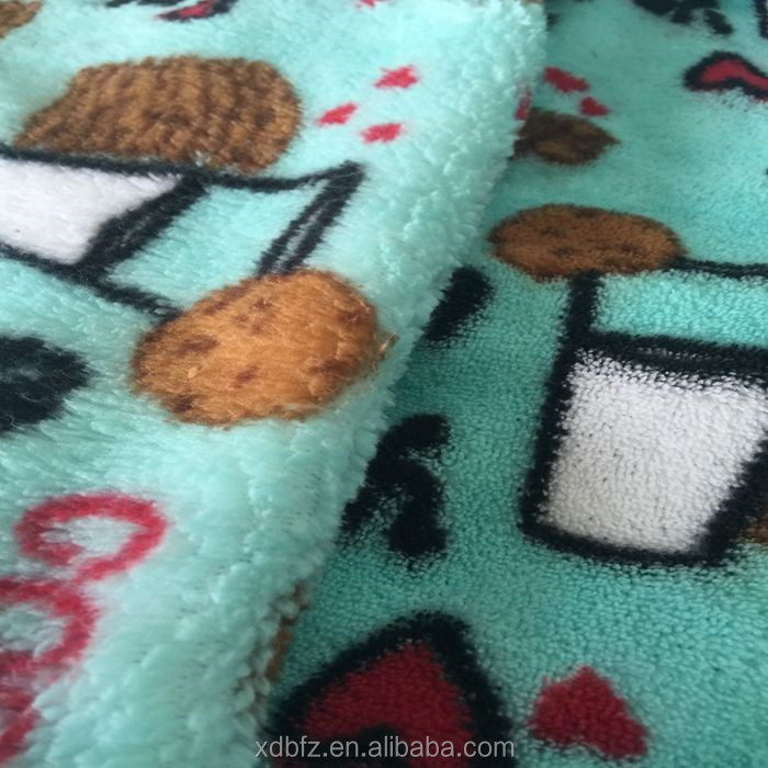 Cartoon Coral Fleece Fabric Home Travel Picnic carpet Warm Blankets fabric Direct Selling