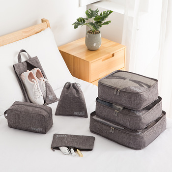 Travel Packing Cubes 7 Pcs Set  Luggage Packing Organizers with Shoe Bag and Toiletry Bag