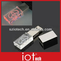 Crystal Glass USB Flash Drives with Logo Engraving