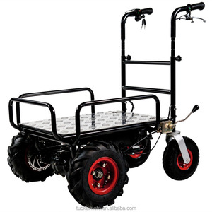 indoor&outdoor transport tools pse electric hand platform trolley 350W max loading 400kgs (TKS-HT020-01E)