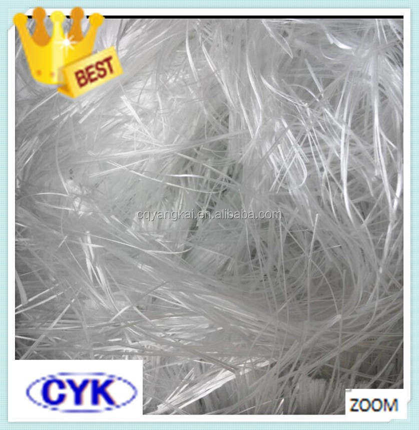 Voltage resistant PBT/PET wet e glass fiber glass chopped strands