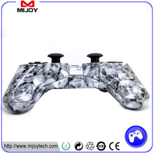 black wireless bluetooth six axis joystick controller for ps3 game controller