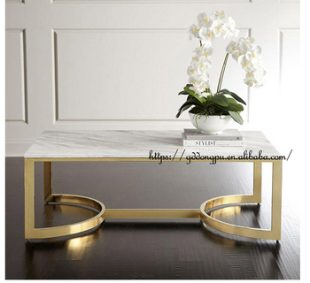 Modern Glass Top Crystal Metal Marble Coffee Table Legs Centre Table   C06