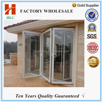 Unbreakable Glass Powder Coated Aluminum Commercial Accordion ...