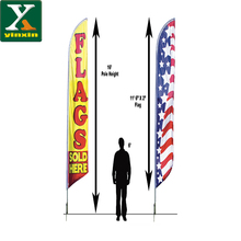 2018 Fiberglass Pole Flying Banner/Promotion Feather Flag And Teardrop