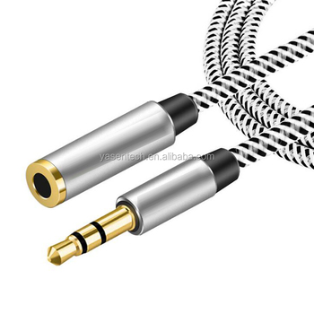 Jack Audio Cable 3 5mm Male To Female 90 Degree Audio Cable Headphone Aux  Audio Extension Cable Flat/round 0 5m-5m - Buy Audio Cable 3 5mm,Braided  Aux