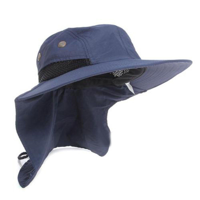 Fishing Outdoor Hiking Boonie Hunting Hat Wide Brim Ear Neck Cover Sun Flap Cap