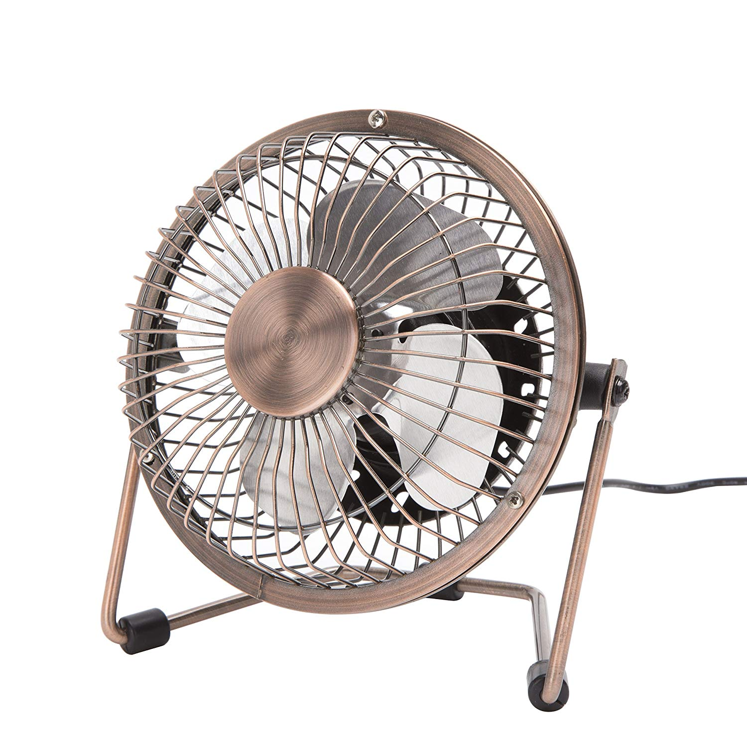 Dreamiracle Mini USB Desk Fan, Small Quiet Metal Desktop Table Personal Fan with 3.9 Feet USB Cable, Great for Office Room