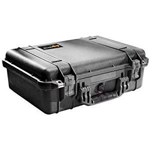 """Pelican 1500001110 1500 Case (No foam) - Internal Dimensions: 16.75"""" Length x 11.18"""" Width x 6.12"""" Depth - 4.94 gal - External Dimensions: 18.5"""" Length x 14.1"""" Width x 6.9"""" Depth - Black - Multipurpose"""