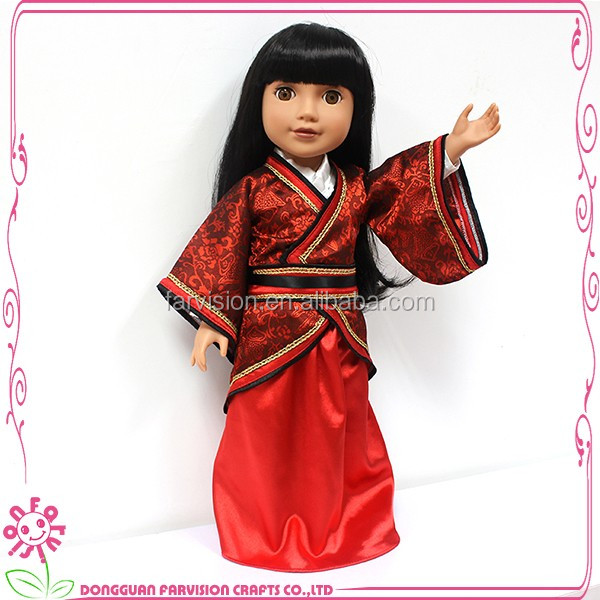 18 inch Japanese girl vinyl doll that look real wholesale