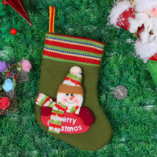 Lovely christmas snowman stocking decoration christmas hanging ornament