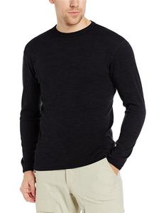 Wholesale merino wool shirt custom made merino tshirt blank crew neck tee mens long sleeve t shirt