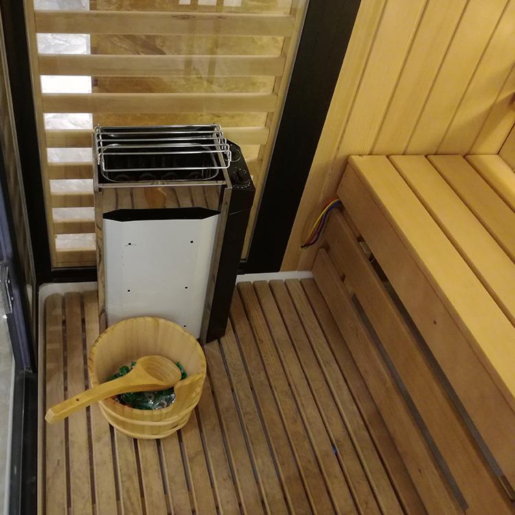 AT-D8856-1 2 kişi lüks duş buhar ahşap sauna odası
