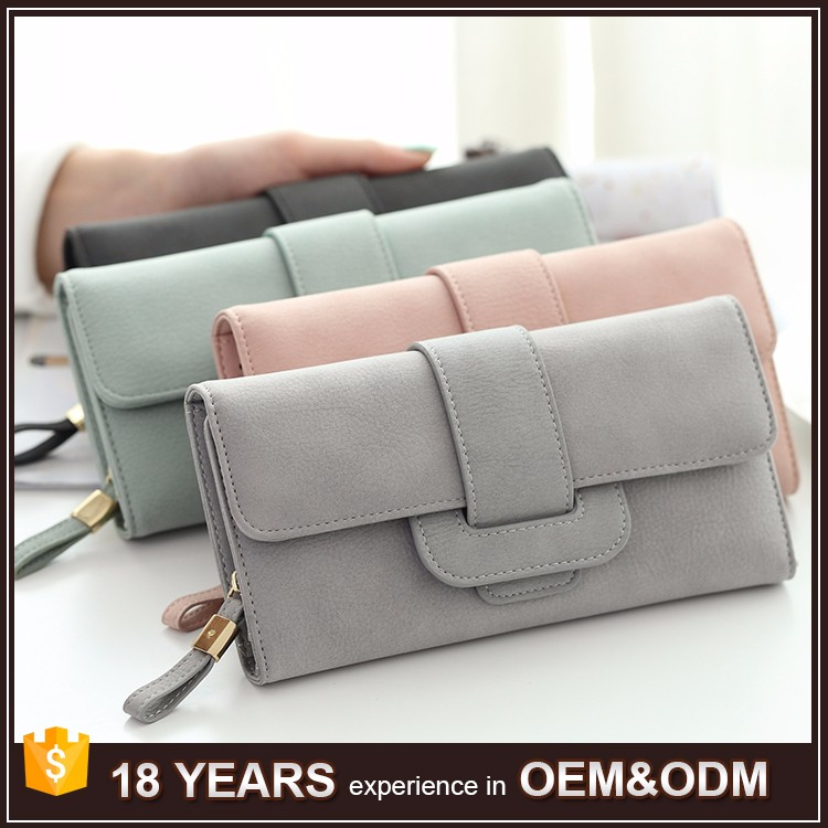 Free Shipping Factory Wholesale High Capacity Women Zipper Large Clutch <strong>Wallet</strong>