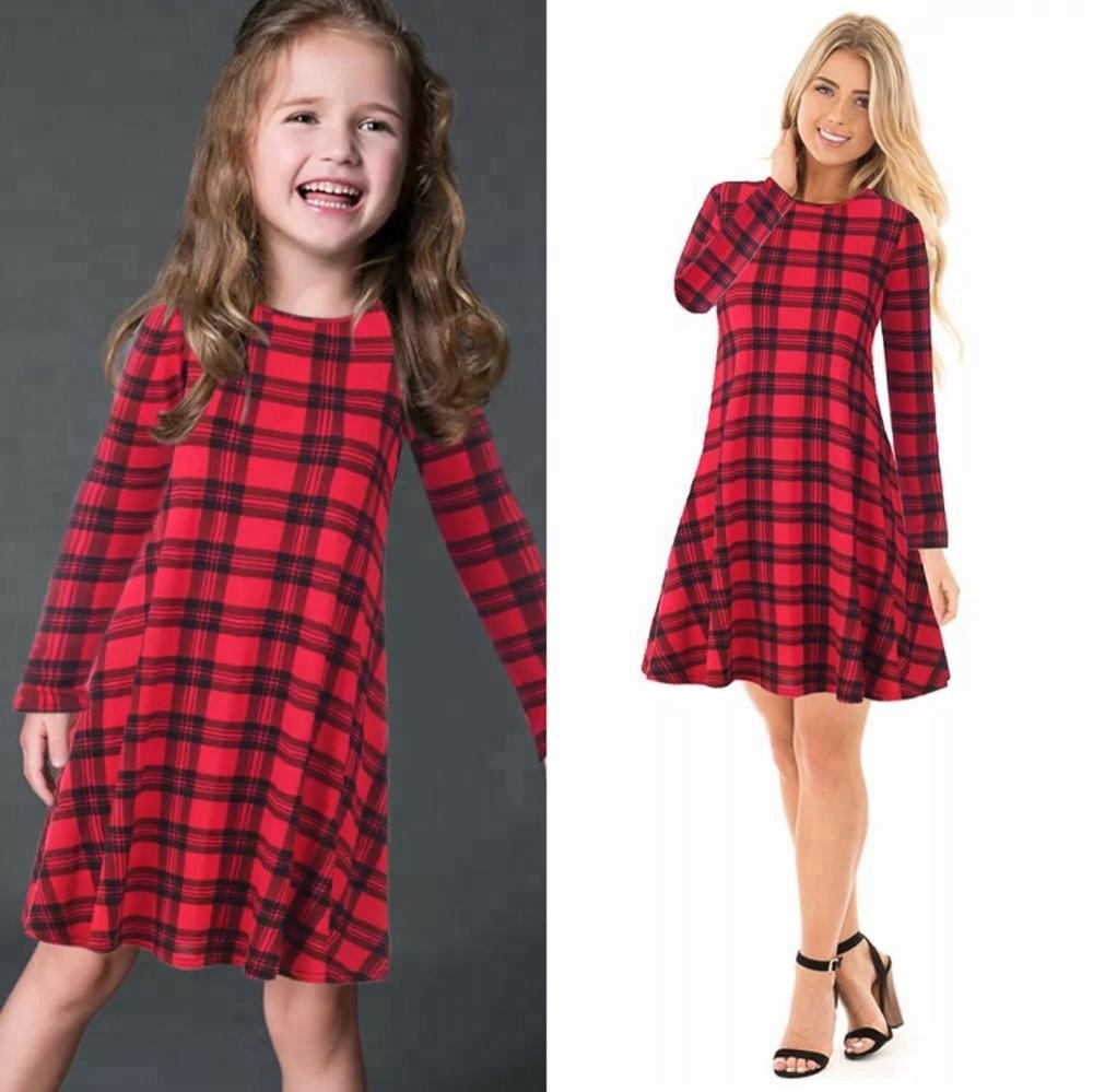my 206 mommy and me christmas dress outfit long sleeve midi dress matching set santa claus print mom and girls christmas dress buy mommy and me dress