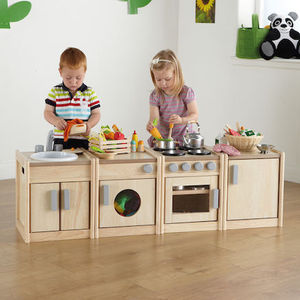 Toddler toys kitchen play set Wooden play Kitchen Units for kids