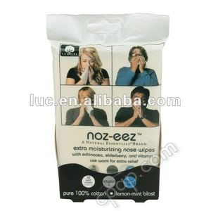 Moisture wipe nose oil removal wipes