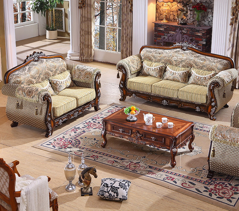2015 New Model Sofa Sets Pictures Classic French Style Carved Sofa