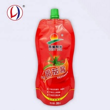High Quality Stand Up Tomato Sauce Packaging Spouted Ketchup Sachet Of Free Shape