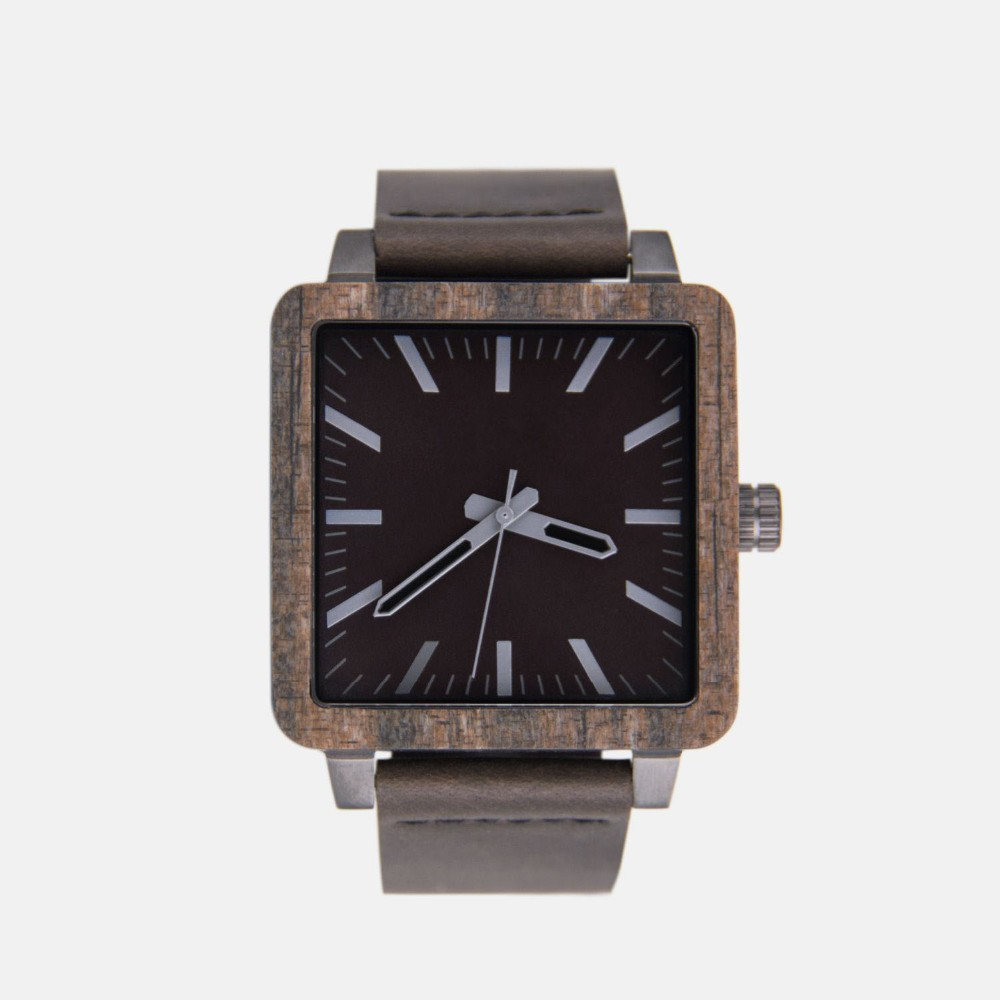 mixed stainless steel and wood special design fashion quartz watches