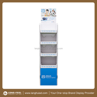 2015 new CC CREAM cardboard floor display rack/ display stand