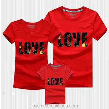 Family Set Clothes Cute Couple Shirt Design T Shirts With