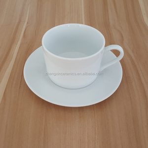 Professional sets printed custom tea cups saucers wholesale porcelain cup and saucer made in China
