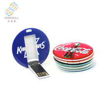 wholesale usb memory stick china Round Usb Driver Custom Credit Card Usb Flash Pen drive with Customized Logo