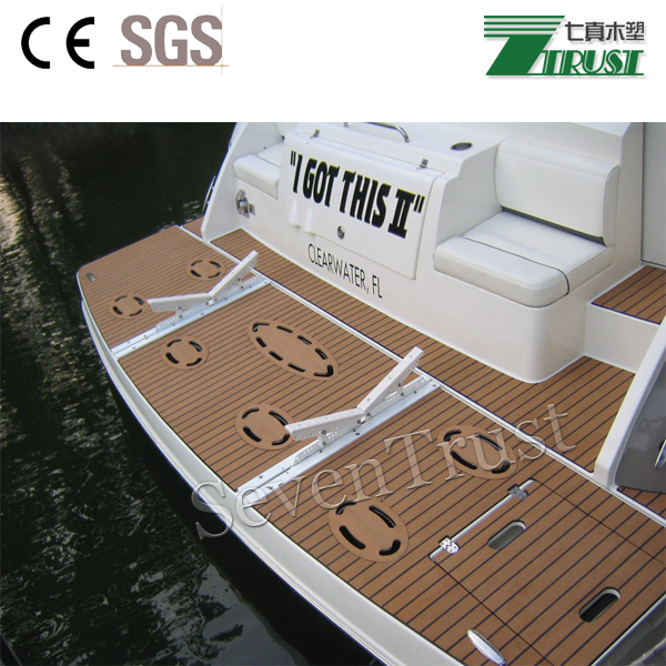 Cheap Synthetic Teak Wood For Boat Yacht Floor Interior