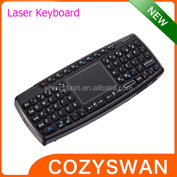 Mini Wireless Keyboard with Touchpad and Laser pen