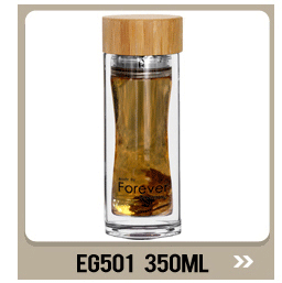 EG513 420ml/14OZ New product double wall bulb bottom glass water coffee cup