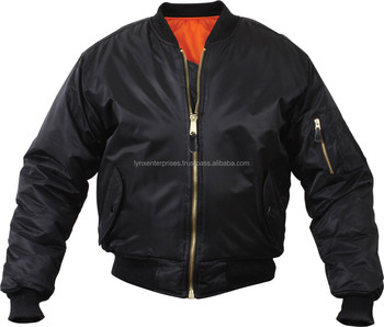 Black Military Air Force Bomber Jacket   Outershell Made From 100% Nylon  Material 66d2e2c668a