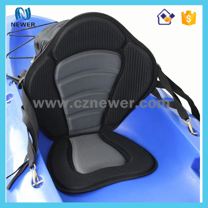 Professional waterproof adjustable padded neoprene deluxe kayak seat