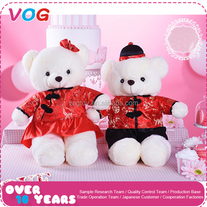 OEM/ODM provided traditional fashion wedding dress custom lover teddy bear