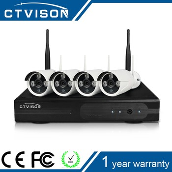 4Ch 720P p2p HD digital wifi camera and nvr kit