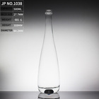 glass bottle wholesale Empty Clear Flat shape wine Glass Bottle with Cap