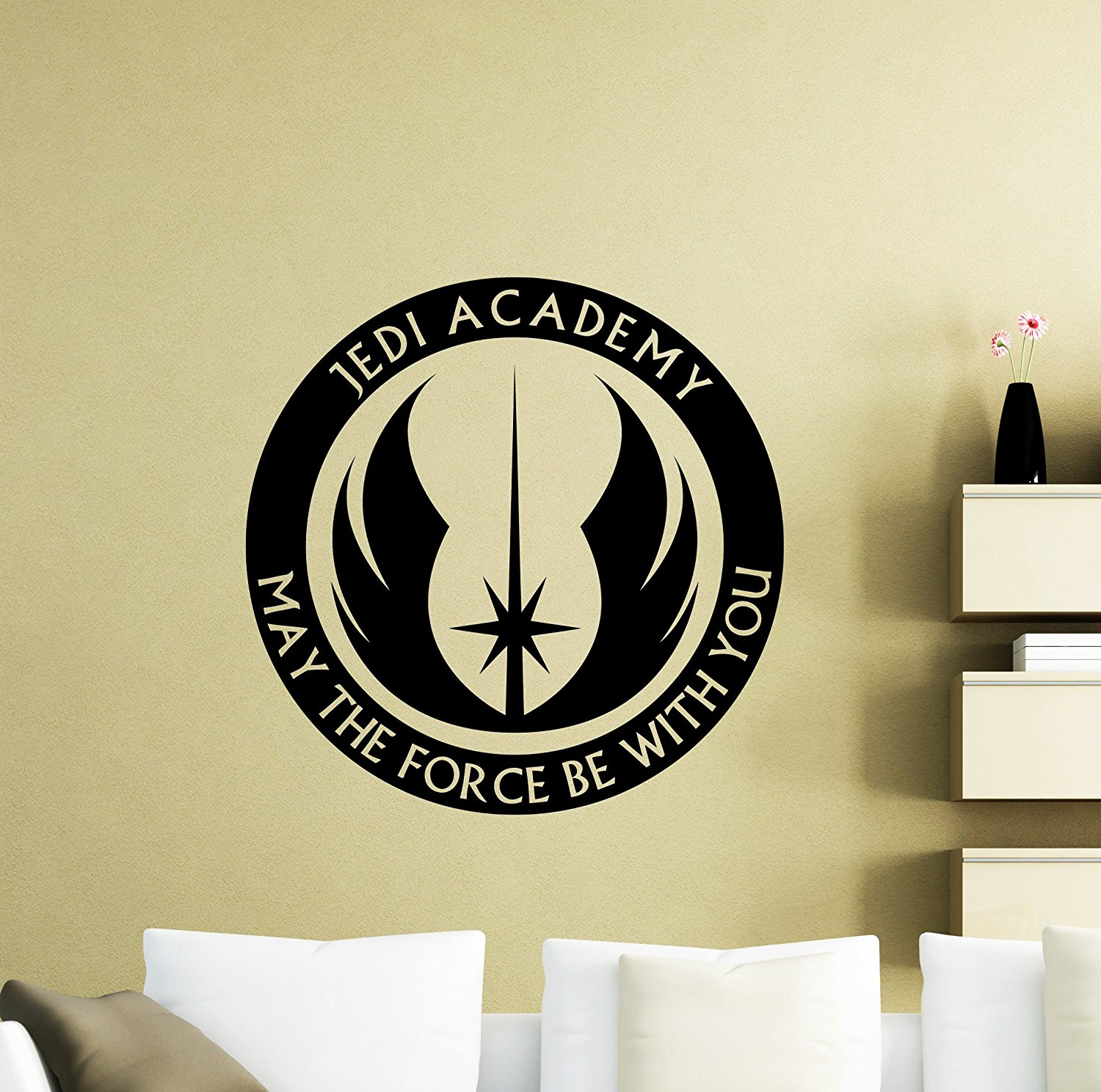 Buy Star Wars Wall Vinyl Decal Jedi Academy May The Force Be With ...