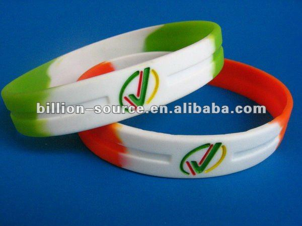 soft stretch debossed silicone wrist band
