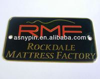 custom engraved metal plaque, metal logo plaque