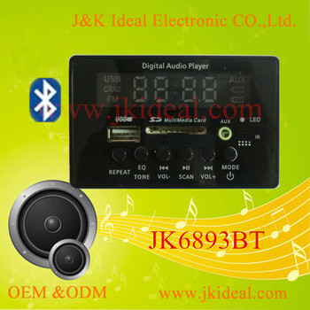jk6893bt bluetooth usb sd line in fm radio mp3 player. Black Bedroom Furniture Sets. Home Design Ideas