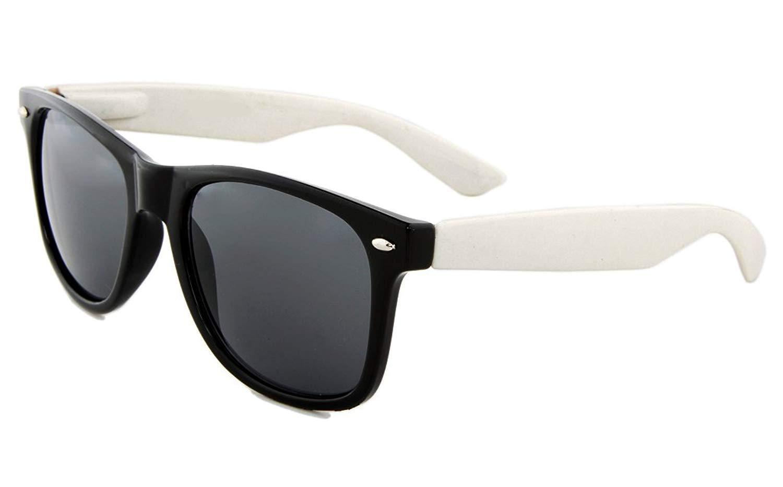 eeb966ecdd Get Quotations · Retro Two Tone Dark Retro Classic Sunglasses Dark Lens Mens  Womens Fashion