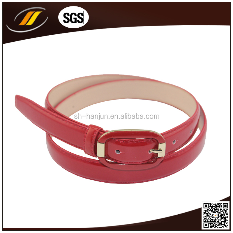 High Quality Leather Covered Buckle Women Fashion PU Belts