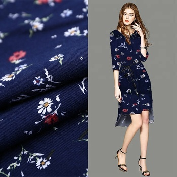 China supplier shirt single jersey 97 cotton 3 spandex print fabric for shirt