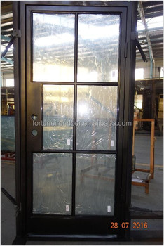 Thin Profile Steel Doors Made With Double Panel LOWE Glass