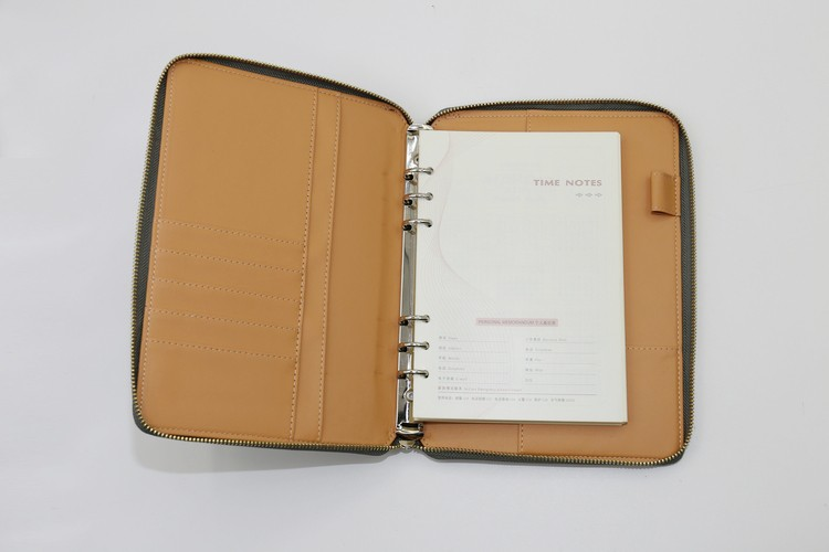 zipper bag loose leaf recycled notebook with pen