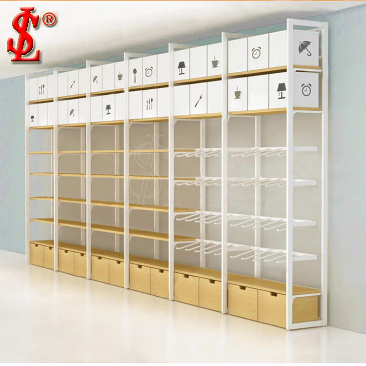 MINISO Wand Racks Display Regale und Haken Display Möbel Fabrik Großhandel