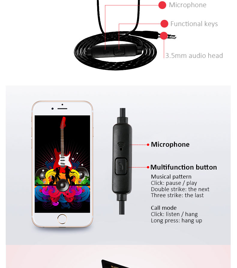 2019 New Year Gifts 3.5mm Wired Earphone Free Sample Earphone For Samsung