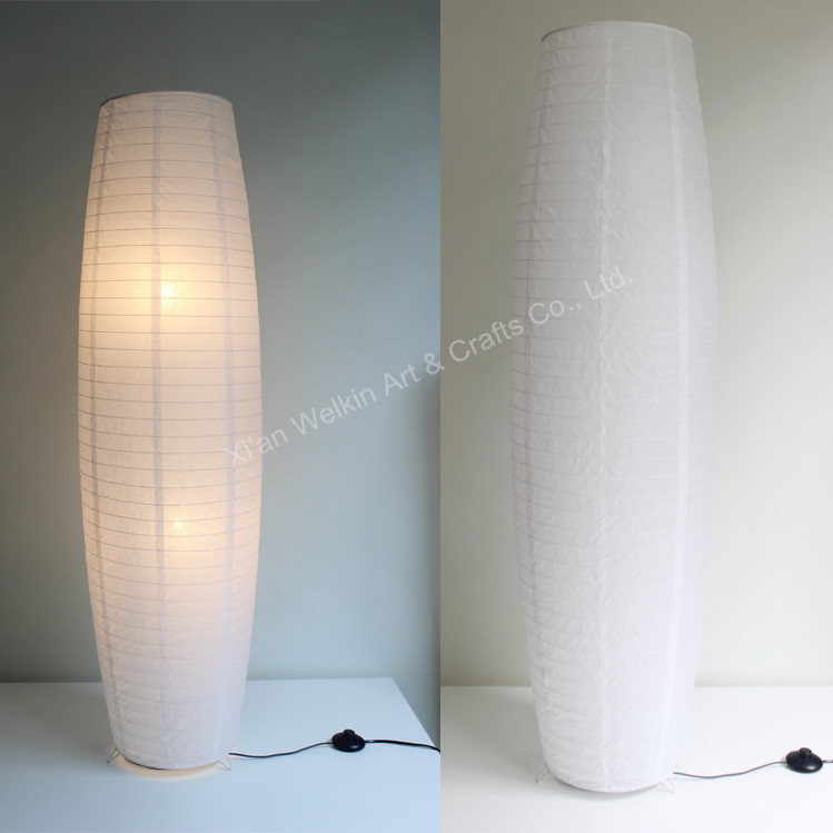Floor standing paper lamp shades buy standing paper lamp for Floor lamp with different color shades