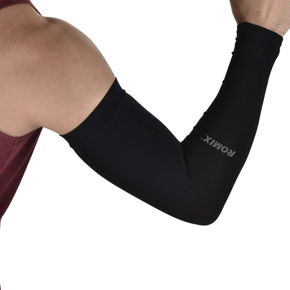 Arm Sleeves-Sunblock UV Protection Long Cooling Arm Sleeve Anti-slip for Men Women Youth Kids Arm Warmers for Basketball Golf Running Hiking Cycling Drive Outdoor Activities & Sports-1Pair